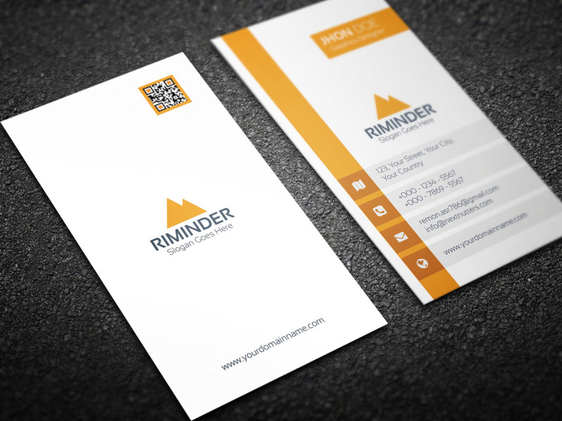 Business Card Maker Template Awesome Simple Vertical Business Card Creative Daddy Business Cards Creative Vertical Business Cards Business Card Maker