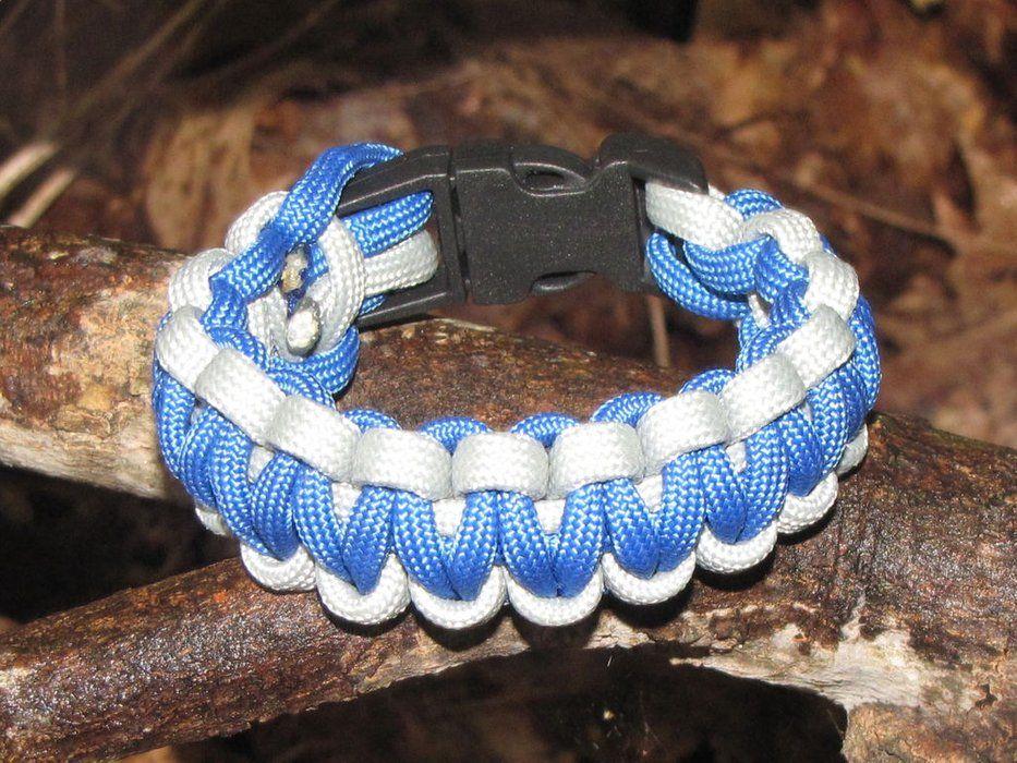 How to make a two color survival bracelet survival