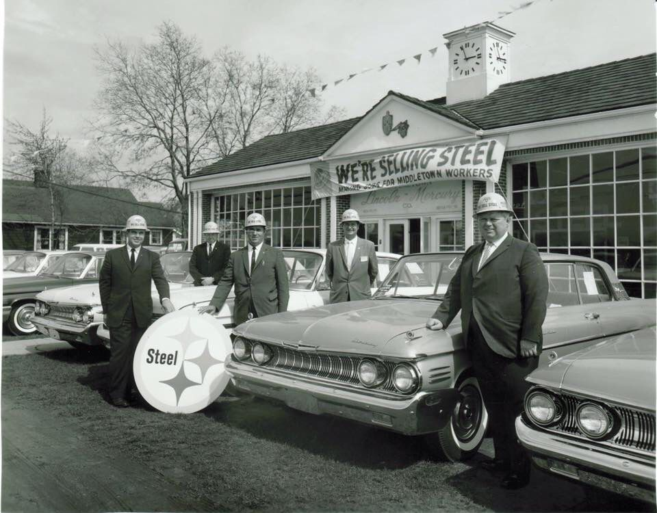 60\'s Lincoln mercury Dealership promoting locally sourced steel ...