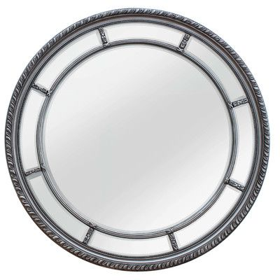 Selections by Chaumont Augusta Circular Wall Mirror Finish: Antique Silver