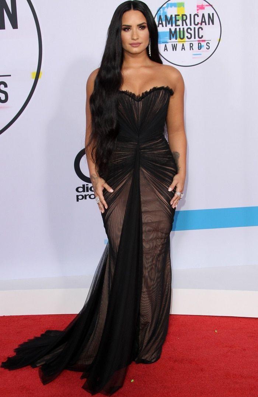Demi Lovato and Lea Michele Stun at American Music Awards in ...