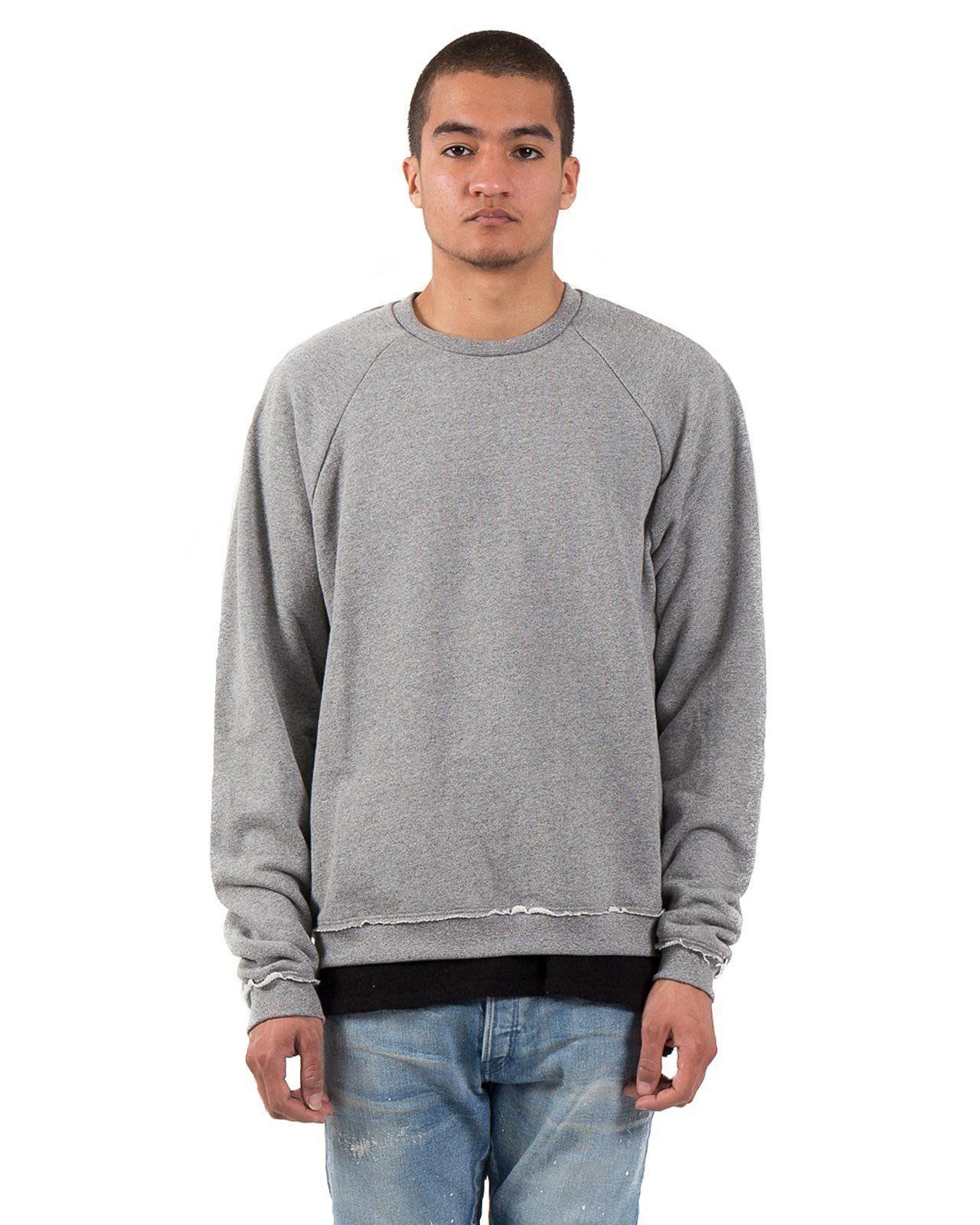Raw Edge Raglan Crew In Dark Gray John Elliott Crew Neck Sweatshirt Raglan Men Sweater [ 1600 x 1280 Pixel ]