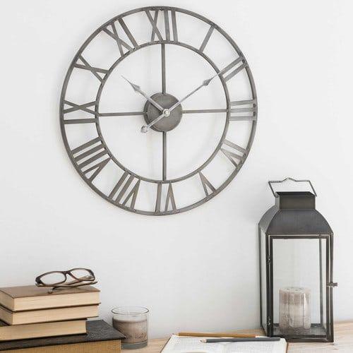 horloge en métal d 45 cm zinc décoration pinterest