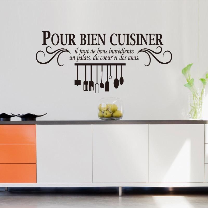 Sticker Mural Citation Cuisine Sticker Mural Citation