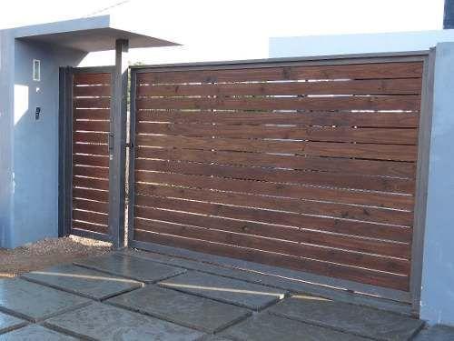 fachadas de casas modernas con rejas - Buscar con Google Portones - fachada madera