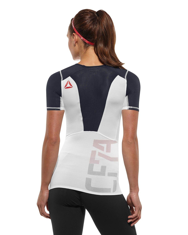 Women Reebok CrossFit Shadow SS Compression Top