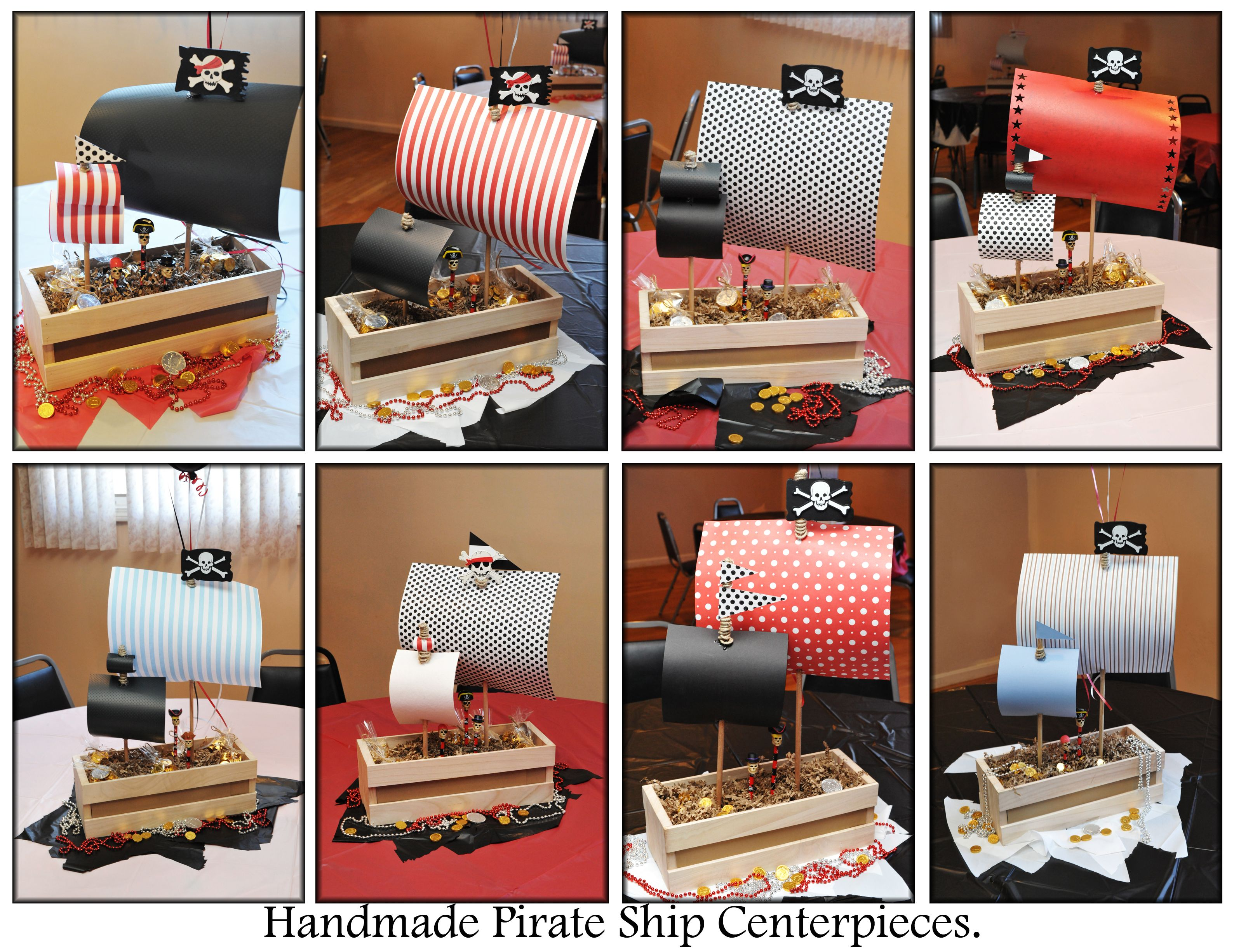 Pirate Birthday Party First Children Table Centerpieces