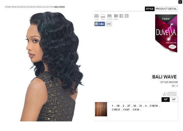 Online Exclusive Outre Duvessa 100 Remi Human Hair Weave Extensions Bali Wave 14