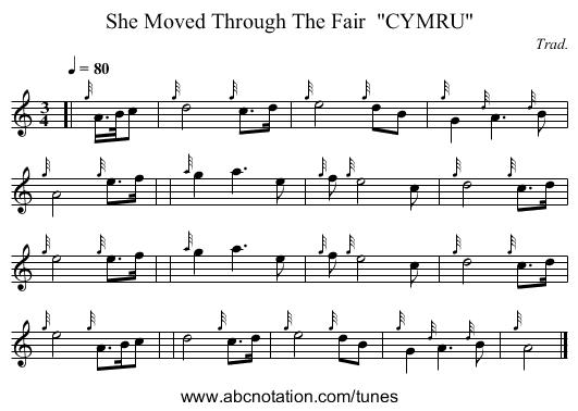 she moved through the fair bagpipe sheet music - Google
