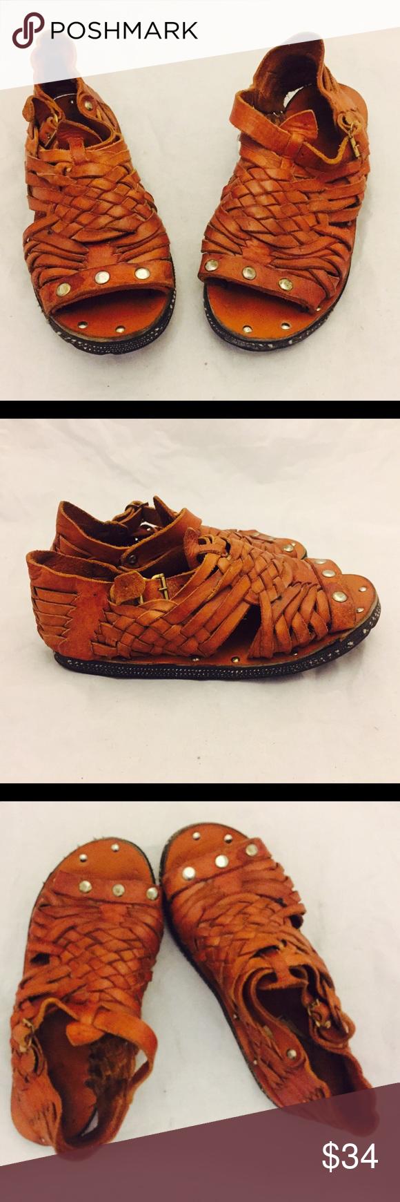 b68dbfe0c849 70s Huarache Sandals Ankle Straps Tire Soles 5 35 Adorable huarache sandals  with adjustable ankle straps