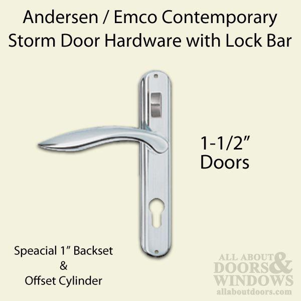 Andersen Storm Door Hardware W Lock Bar Choose Finish 79 95