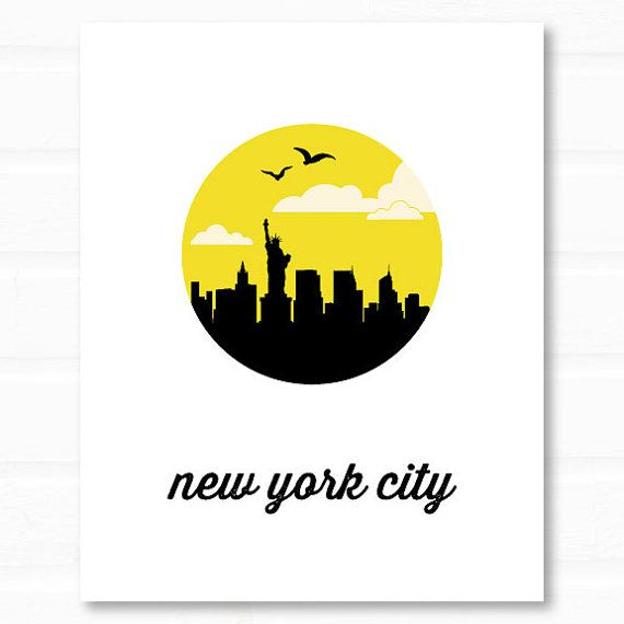 new york city // new york skyline // new york by PaperFinchDesign