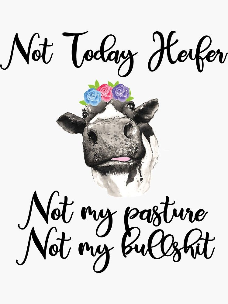 This heifer don/'t take no Bull water slide decal