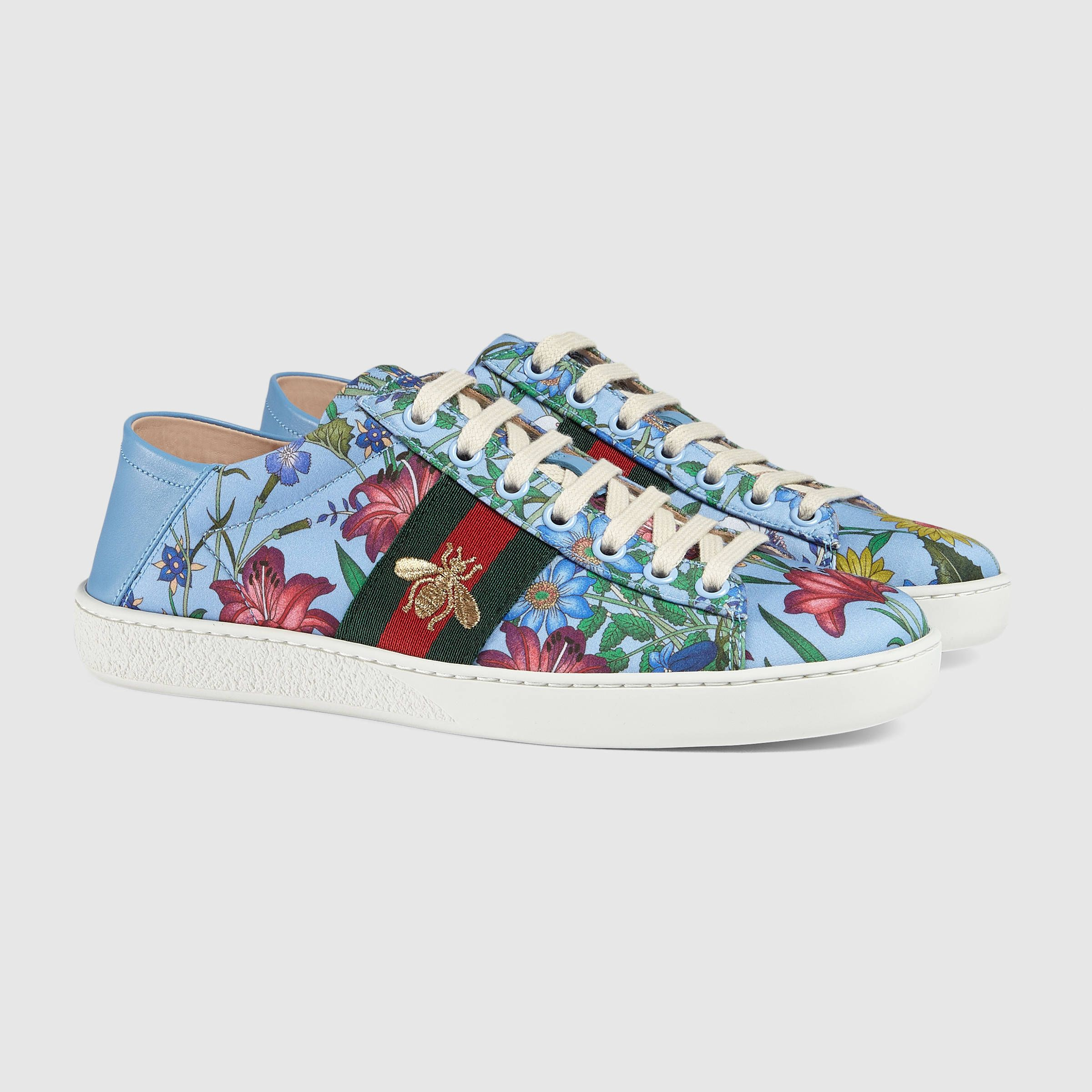 0cf86d6a40f Gucci Ace New Flora print sneaker Detail 2