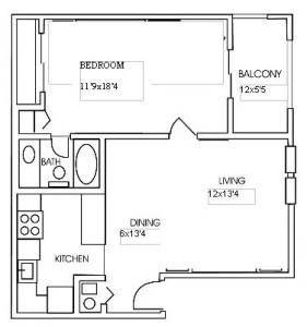 A1 Square Feet 720 Sq Ft Apartment Apartments For Rent Apartment Communities