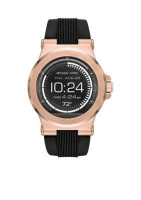 c28e4cfeeec6 Michael Kors Men s Connected Men s Dylan Rose Gold-Tone Smartwatch - Black  - One Size
