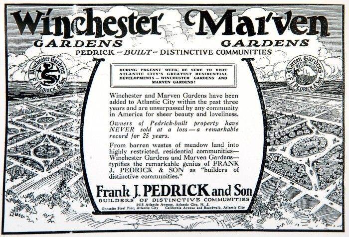 A Copy Of An Advertisement For Winchester Gardens And Marven Gardens On The Border Of Margate And Ventnor Historic Postcards A Margate Longport Selling House