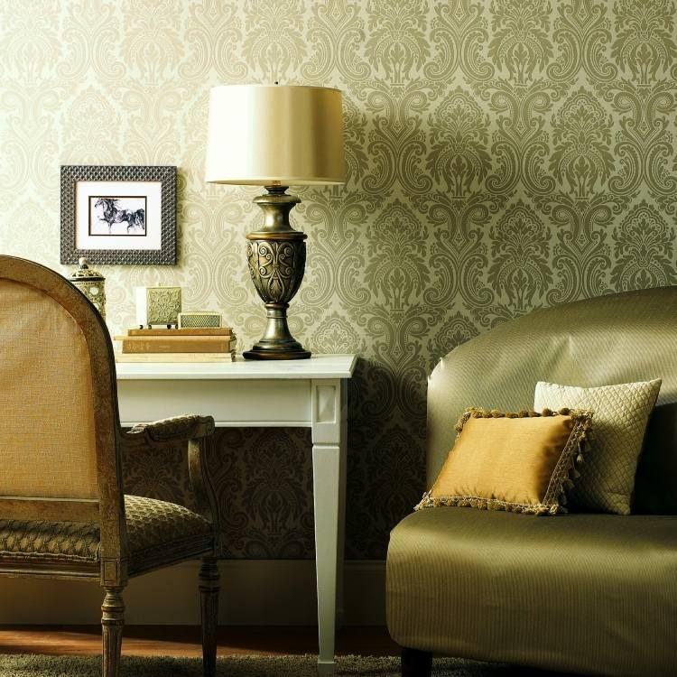 Papier peint or en 24 idées tendance pour un intérieur éblouissant
