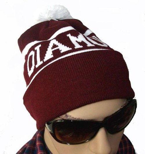 82f3114d1c2b3 Winter Unisex Diamond Knit Ski Warm Crochet Slouch Hat Hip-hop Ball Beanie  Cap