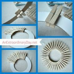 Photo of Clothespin wreath tutorial :: laundry room art | An extraordinary day