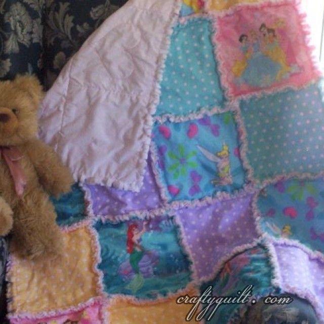 Crafty Quilt Portfolio - Baby Quilts - Disney Princess Rag Quilt ... : disney baby quilts - Adamdwight.com