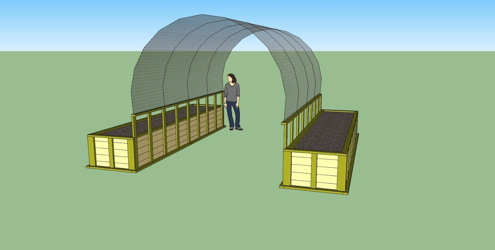 Small Crop Of Cattle Panel Greenhouse