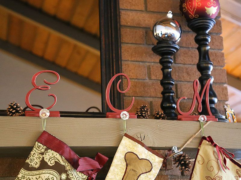How to Make Monogram Stocking Holders | Craftcuts.com
