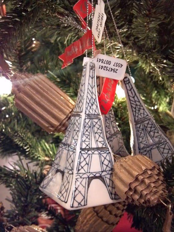 Cute ceramic Eiffel Tower ornaments @Anthropologie I