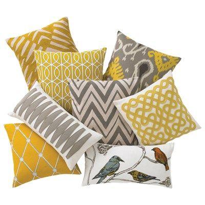 Dwellstudio Home Hadley Mustard Pillow Home Living