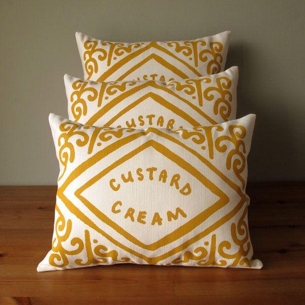 custard cream cushion cover