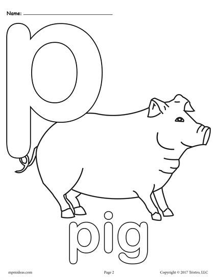 Letter P Alphabet Coloring Pages 3 FREE Printable Versions