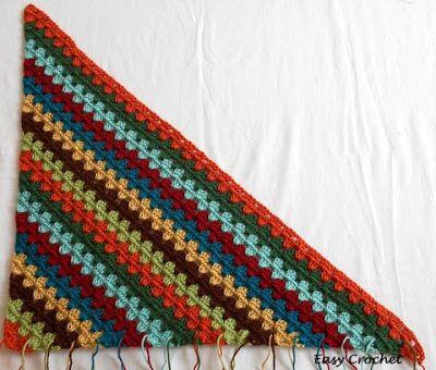 Einfach Häkeln Muster: Diagonal Granny Streifen Afghan Tutorial ...