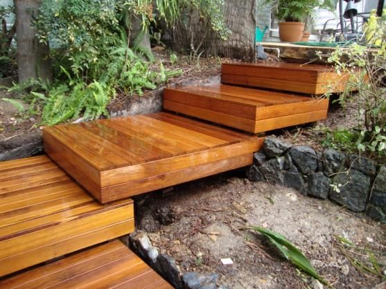 Timber Garden Steps Trappa Design Snickeritips Trädgårdsarbete   Outdoor Timber Stairs Design   Pinterest   Outside Entrance Stair   Basic Outdoor   Different Style   Rustic Timber