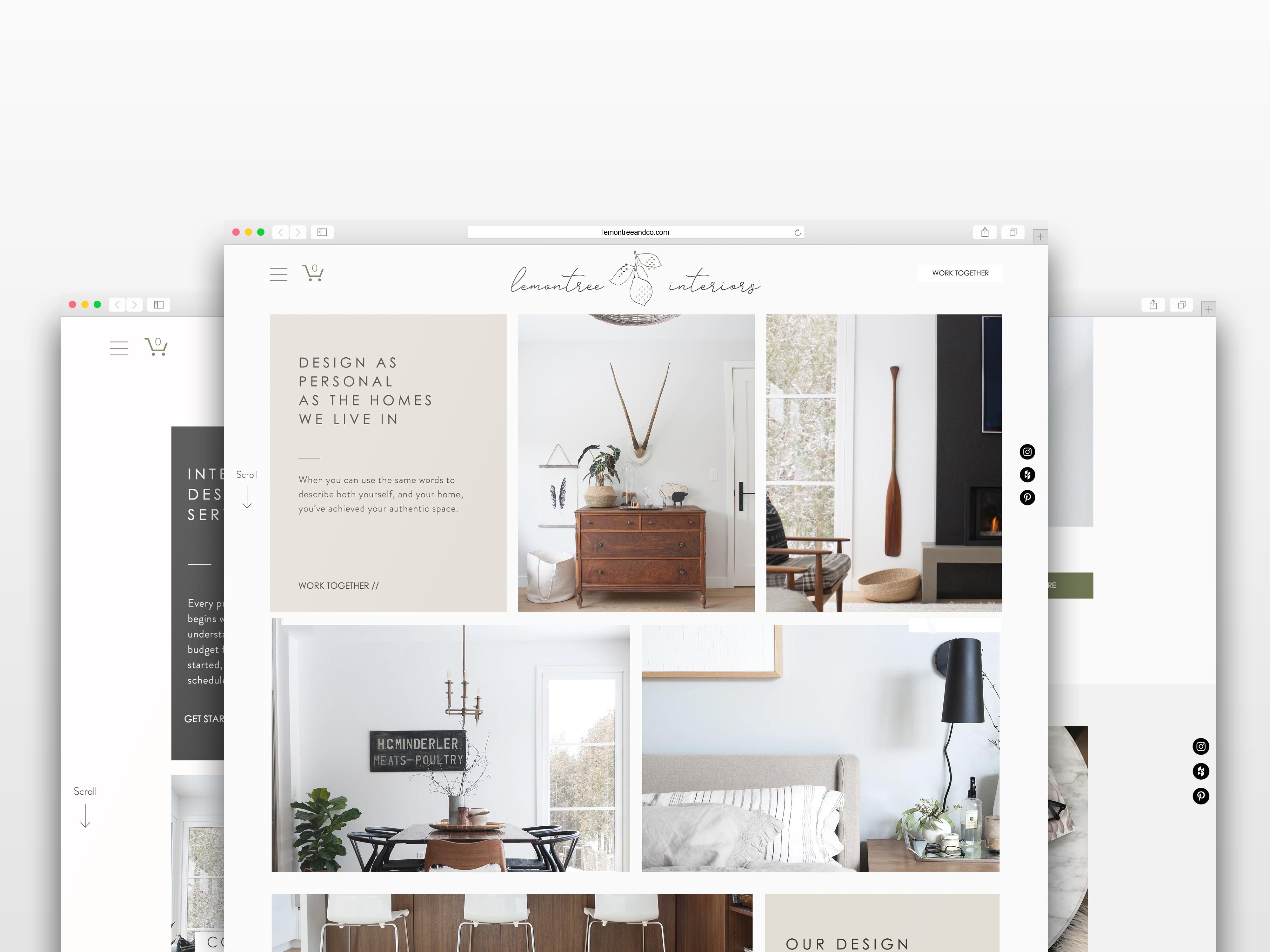 The Identite Collective Branding Web Design And Content Creation For Interior D Interior Design Website Bathroom Interior Design Professional Website Design