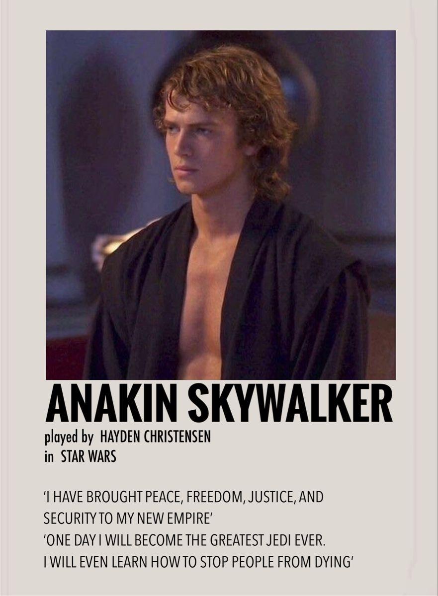 Anakin Skywalker By Millie In 2021 Film Posters Minimalist Star Wars Movies Posters Movie Posters Minimalist