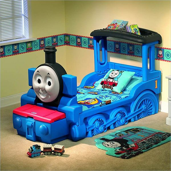 Train Bedroom Decor: The Friendly Thomas & Friends Train Bed For Kids