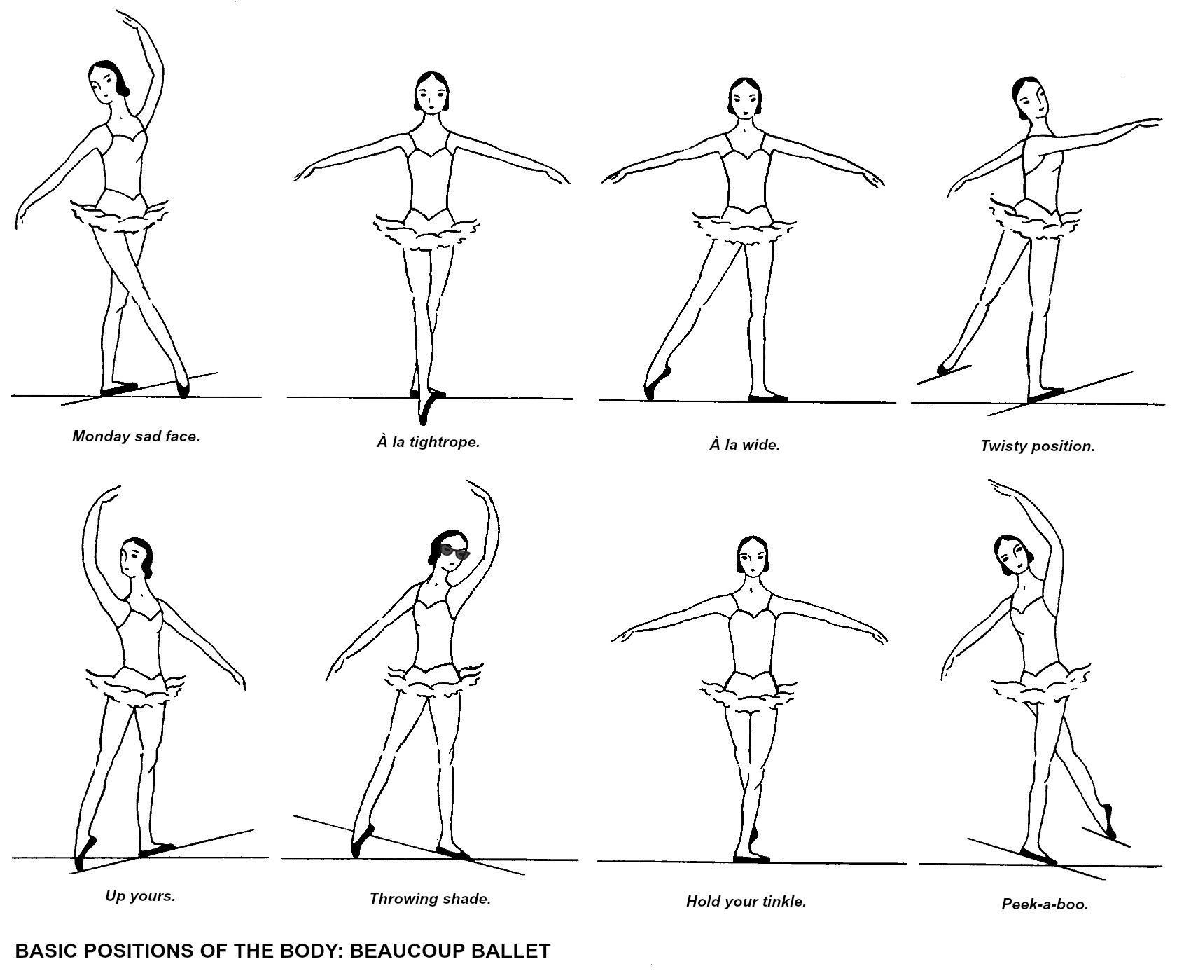 Magnífico Ballet Para Colorear Ilustración - Dibujos Para Colorear ...