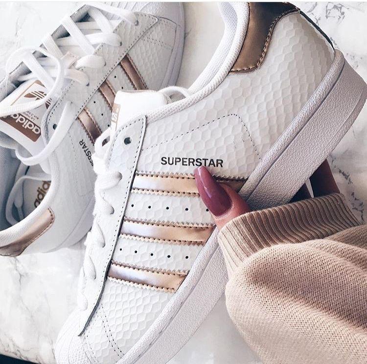 adidas originals with rose gold