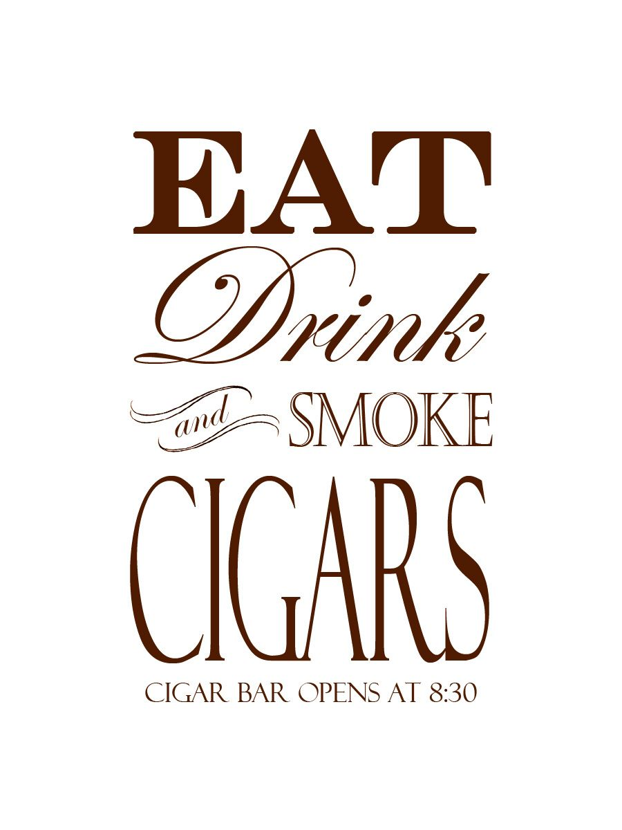 Having a cigar bar@ the wedding in memory of my Grandfather with his ...