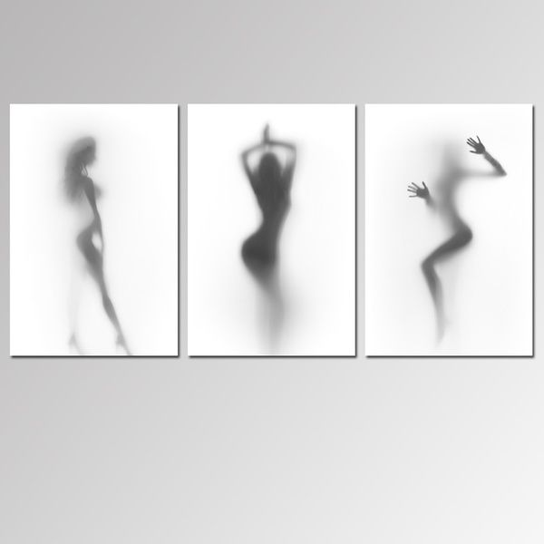NO Frame Canvas Wall Art Black and White Sexy Women Print Paintings Modern Artwork Canvas Wall Posters Living Room Decor Bedroom Decor Home Decoration images