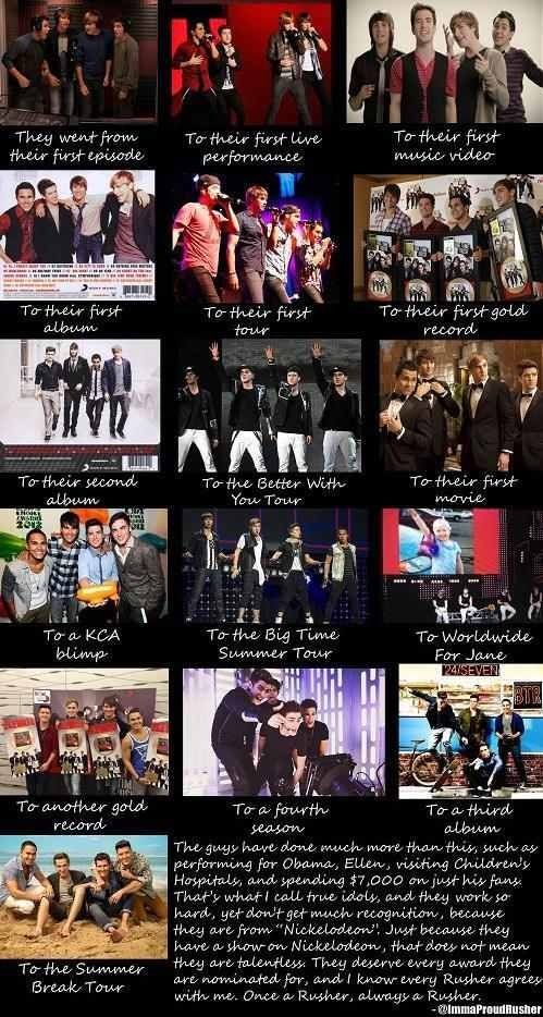 Once A Rusher Always A Rusher 3 The Picture Of Their First Tour Was The One I Was At This Means 10x More To Me Th Big Time Rush Big