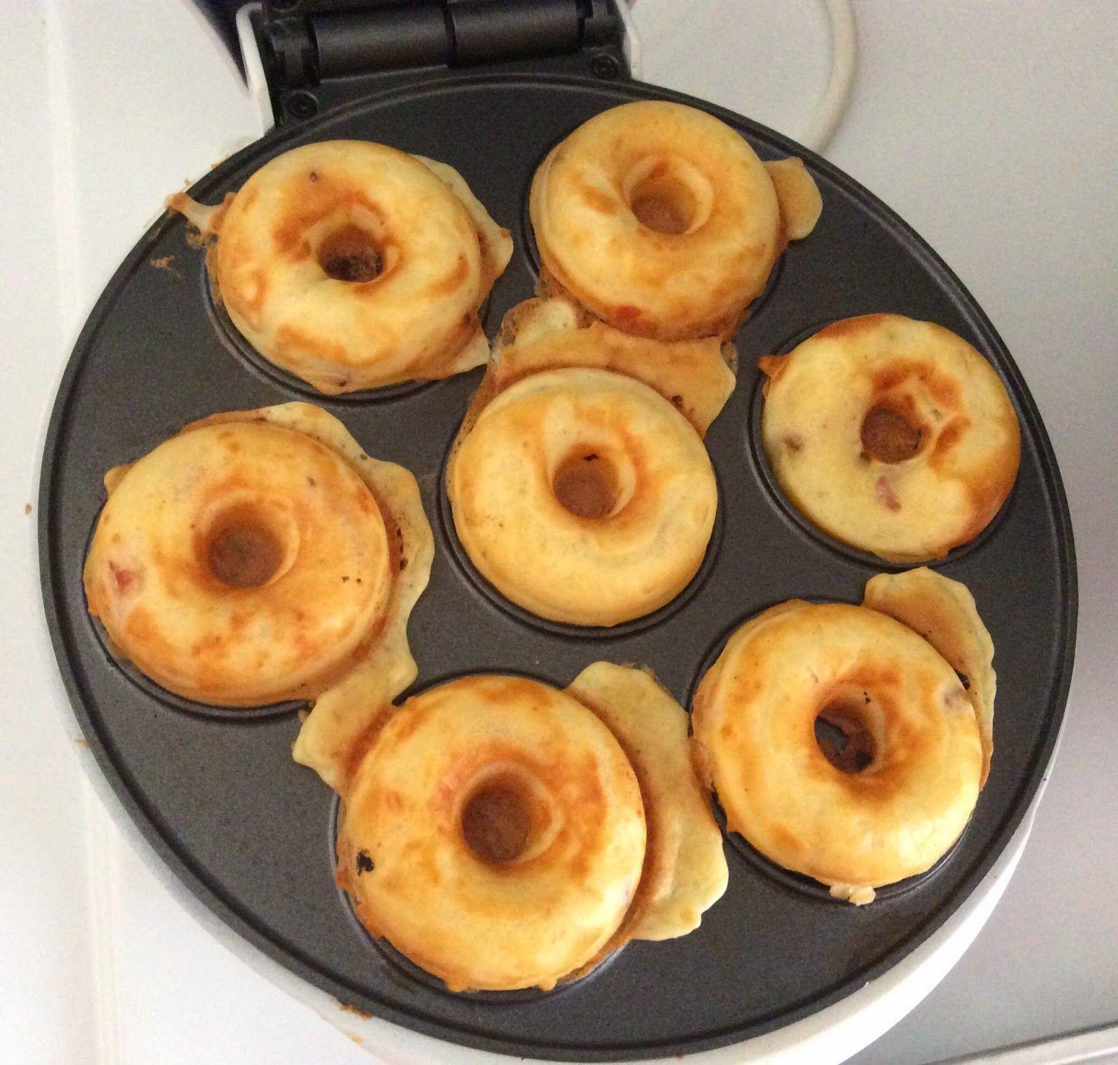 donuts sal s aux lardons et fromage avec la machine. Black Bedroom Furniture Sets. Home Design Ideas