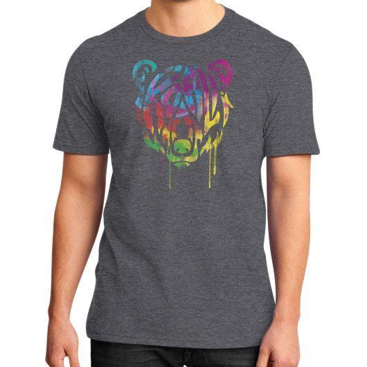 MELTbear Crest T anks District T-Shirt (on man)