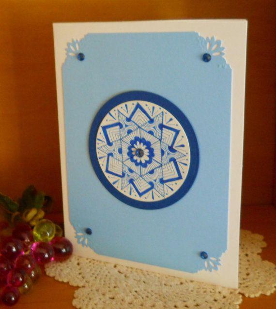 Handrawn Mandala Design Card Birthday Get Well by 2HeartsDesire, $4.00