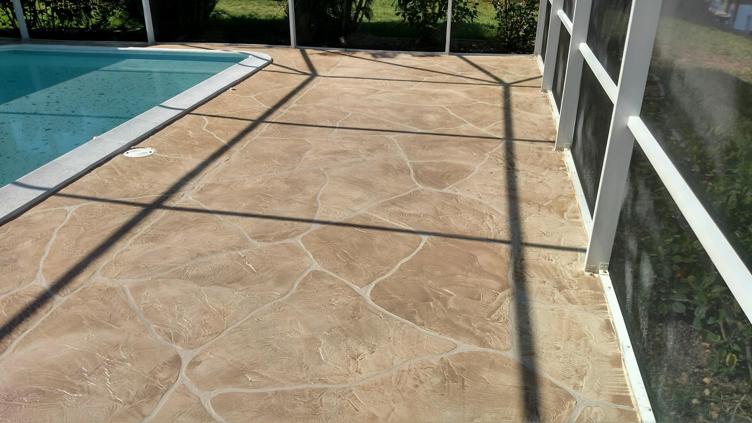 Pool Deck Resurfacing Concrete Landscape Curbing In Cape Coral