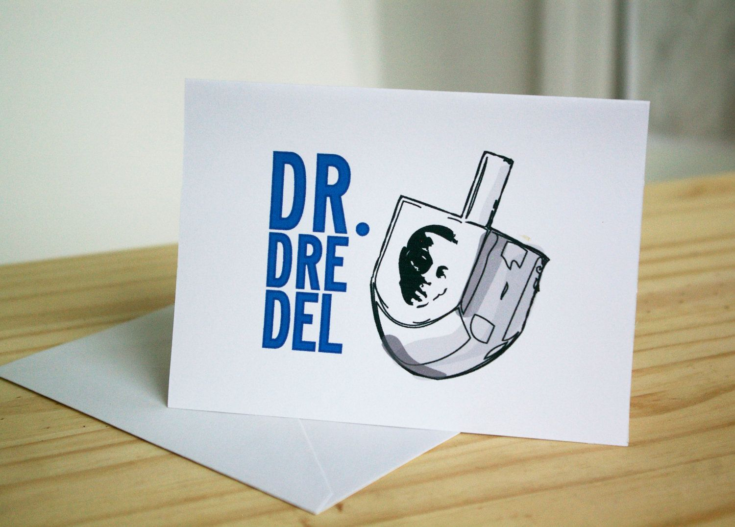 Dr. Dre-del - Funny Jewish Holiday Card. $2.95, via Etsy.  Stereotypes | Racist Humor | Ethnic Jokes