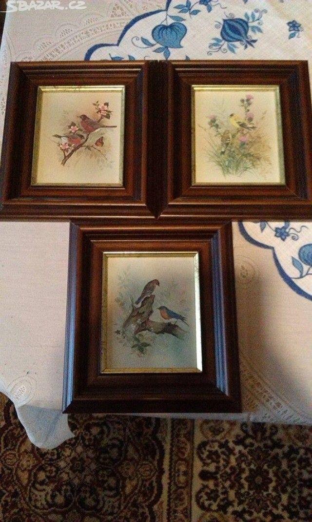 Prodám tři nádherné obrazy.. + poštovní si - obrázek číslo 1