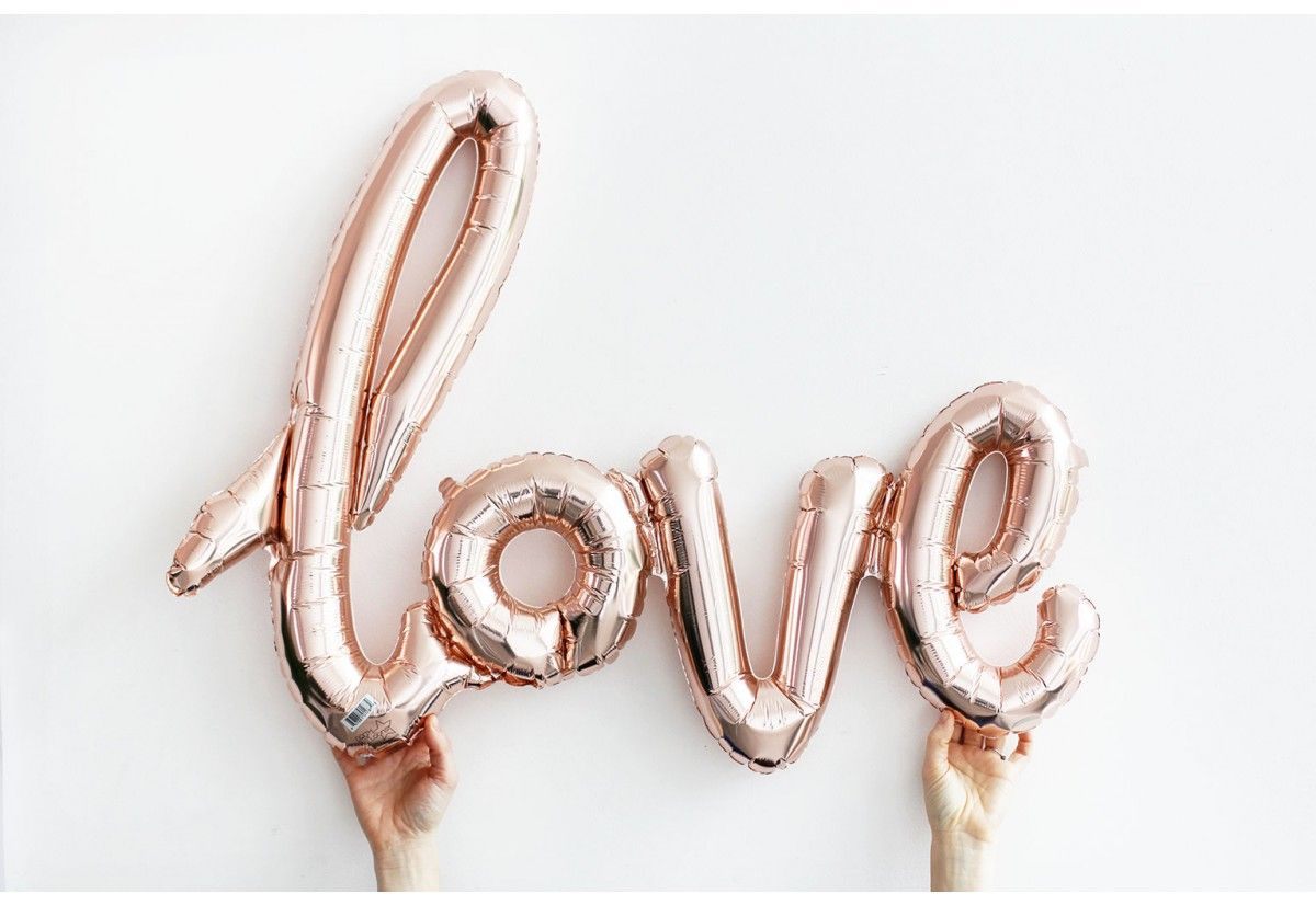Love Our Stunning Love Script Rose Gold Balloons Are Perfect For Everything From