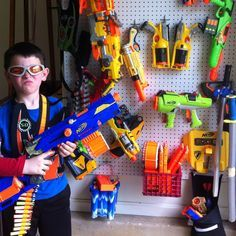 Nerf guns = 1 trip to Home Depot, 40 bucks, and 32 sf of wall