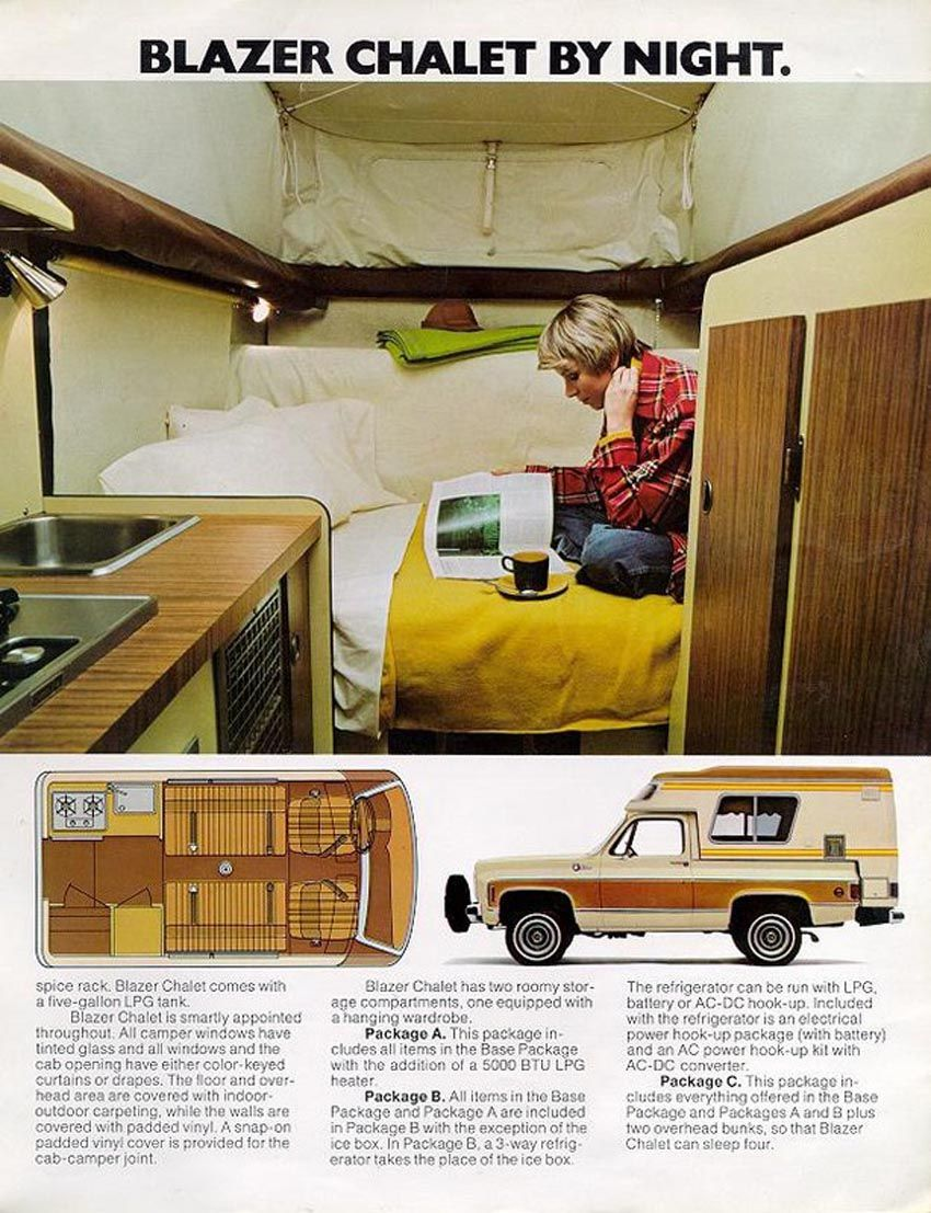 Blazer Chalet Camper For Sale Wasted Wheels Chevy Blazer Chalet